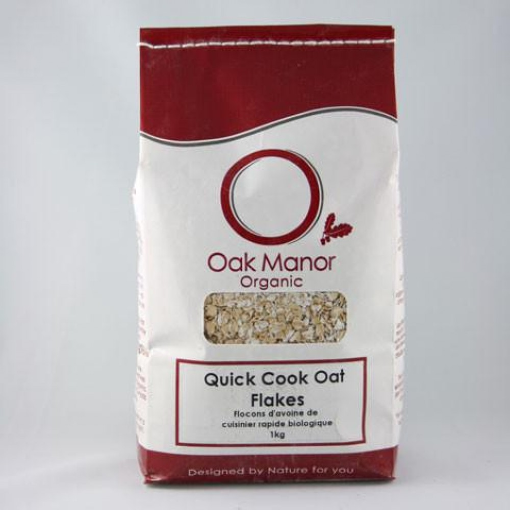 Organic Quick Cook Oat Flakes 1KG