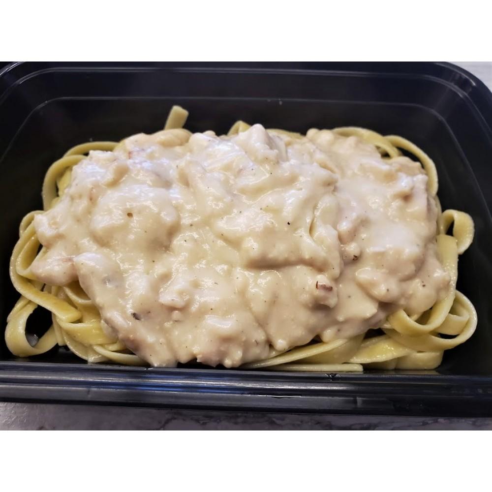 Homemade Fettuccini Alfredo with Chicken