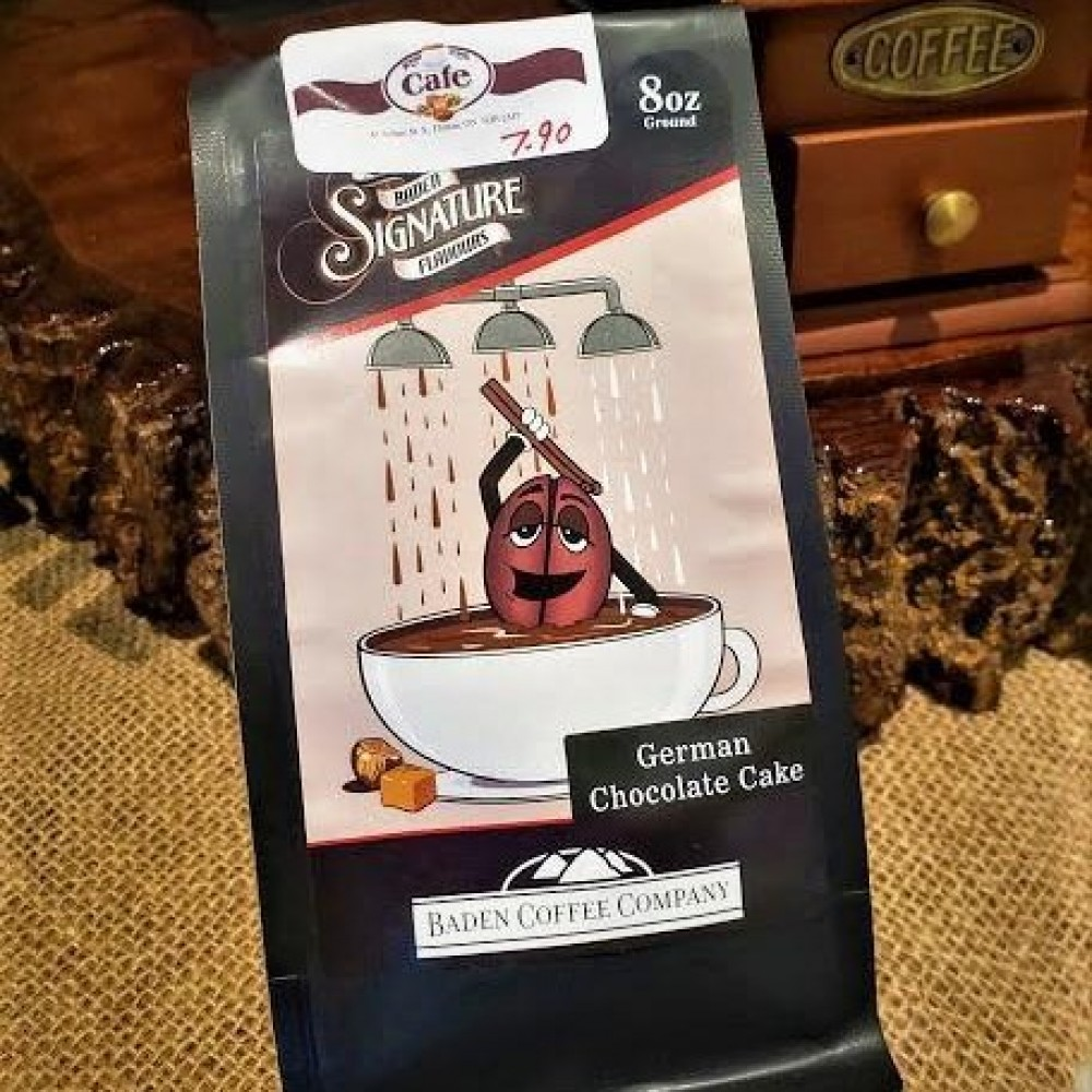 Locally Roasted German Chocolate Cake Baden Coffee